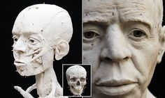 GETTING TO KNOW YOU The 'Jericho skull' was found in Palestine by British archaeologists in 1953. The reconstructed head will be displayed in the British Museum in London.