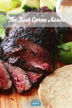 The Best Carne Asada Recipe Grilling Recipes, Meat Recipes, Mexican Food Recipes, Cooking Recipes, Hibachi Recipes, Best Carne Asada Recipe, Green Egg Recipes, Food Lab, Italian Recipes
