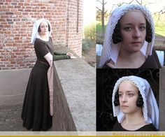 ruffled veil and temple braids. tippets