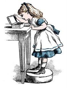 Vintage Clip Art - Alice in Wonderland Look Alike - The Graphics Fairy