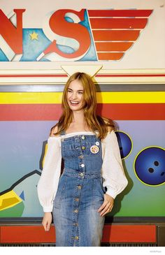 Playing the titular role of 'Cinderella' in the Disney film set to hit theaters this March, British actress Lily James covers the April 2015 issue of ASOS Magazine clad in a denim jumpsuit and skinny scarf. Photographed by Piczo, Lily looks to be having fun at a bowling alley in the colorful photo shoot.   ...