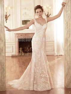 Col en v robe de mariée princesse dnetelle organza robe pas cher [#ROBE2010434] - robedumariage.com