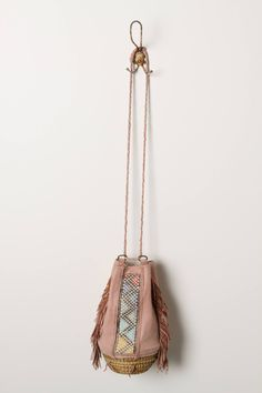 Fringed Basket Bag - anthropologie.com