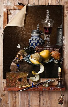 Still Life after Cornelius Gijsbrechts by Kevin Best