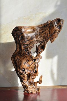 Olive wood sculpture root
