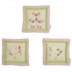baby farm animals crib blankets | pink and white sheep baby girl nursery 9pc farm animal crib bedding ...