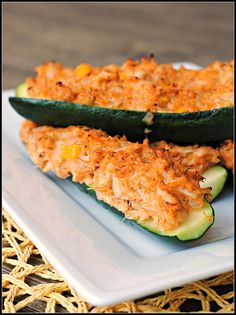Crab-Stuffed Zucchini Boats: I would have never thought to do this, but wow it sounds great!