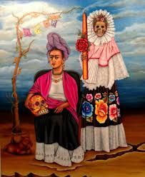 Frida Kahlo a perfect daily theme for October.) Today we will pin the art and stylings of the FABULOUS FRIDA KAHLO! Diego Rivera Frida Kahlo, Frida And Diego, Frida Kahlo Portraits, Frida Kahlo Artwork, Kahlo Paintings, Art Du Monde, Frida Art, Mexican Artists, Naive Art