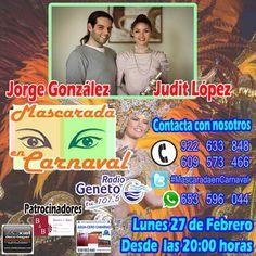 "Grupo Mascarada Carnaval: ""Mascarada en Carnaval"" con Judit López y Jorge Go..."