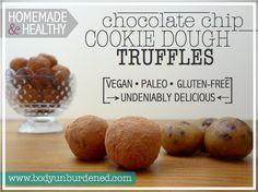 "Homemade & Healthy ""Cookie Dough"" Truffles via @bodyunburdened"