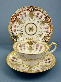 Minton Pedestal Tea Cup And Saucer - Emperors Garden Pattern - England Cute Tea Cups, Fun Cup, Vintage Tea Parties, Antique Tea Cups, China Tea Sets, Tea Service, My Cup Of Tea, Tea Cup Saucer, Tea Party