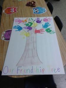 Make a Friendship Tree in kindergarten Preschool Lessons, Preschool Classroom, Preschool Art, Classroom Activities, In Kindergarten, Art Activities, Preschool Activities, Preschool Memory Book, Friendship Crafts