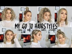 MY CURRENT FAVE GO TO HAIRSTYLES FOR SHORT HAIR 2018 | WITH AND WITHOUT HEAT - YouTube