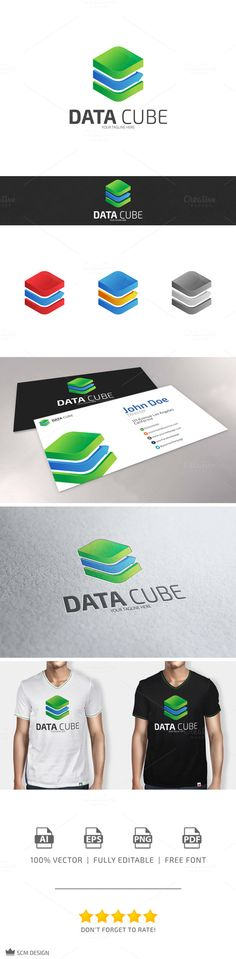 Check out Data Cube Logo by SCM Shop on Creative Market