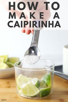 With only three easy ingredients, you could be sipping on one of theses deliciously fun caipirinhas in 5 minutes or less. Brazilian Rum, Brazilian Cocktail, Brazilian Recipes, Caipirinha Recipe, Easy Cocktails, Cocktail Recipes, Cocktail Drinks, Cocktails