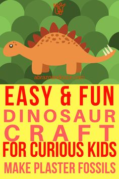 """Easy Kid Craft: Make Dinosaur """"Fossils"""" Art Activities For Kids, Holiday Activities, Family Activities, Learning Activities, Easy Crafts For Kids, Kid Crafts, Preschool Crafts, Dinosaur Crafts, Dinosaur Toys"""