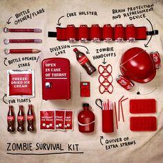 [Coke Code 369] 좀비가 세상에 나타나도 겁먹을 필요 없다! 코-크 좀비 서바이벌 키트 전격 공개~ 코코는 상쾌함을 충전할 수 있는 헬멧 아이템이 제일 맘에 드네요! 여러분들은 어떤 아이템이 가장 맘에 드나요?