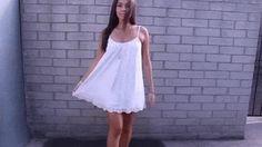 Feminine look by Emman wearing white crochet hem dress. Get her gorgeous dress here. | Lookbook Store Fashion in Action #LBSMovingFashion