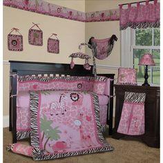 Custom Baby Bedding Pink Safari 13 Pcs Crib Nursery Set Sets For S