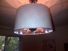 Pendant light with white and silver design   $45, Item #ML-1018, Sold, please visit: http://www.findandtreasure.com/catalogue.html