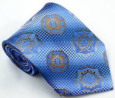 New-Classic-Paisley-Pattern-Blue-Brown-JACQUARD-WOVEN-Silk-Mens-Tie-Necktie