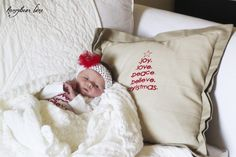 Christmas Pillow and onesie using silk screening