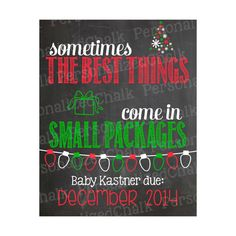 Christmas Pregnancy Announcement Chalkboard by PersonalizedChalk, $8.00