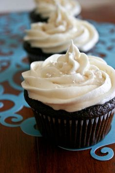 Bakergirl: Chocolate Cupcakes with Ganache Filling. Love one commenter's idea to make with peanut butter...