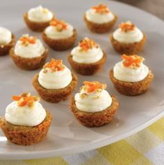 Mini Carrot Cake Cups -- Can't go wrong with homemade cream cheese frosting! #PamperedChef #Easter #Spring.                                www.pamperedchef.biz/katiecastelluccio