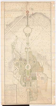 Park z Zamkiem Weissenstein – Carl F. Bosse, 1770, Architekturmuseum der Technischen Universität Berlin. Całość założenia wkomponowano w krajobraz zgodnie z zasadą tworzenia ogrodów angielskich. Osnową całości pozostała oś główna z wieńczącym ją Oktagonem. Park ozdabiały liczne powiązane widokowo budowle.