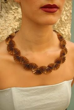 folded paper necklace by Hila Rawet Karni via All Things Paper blog