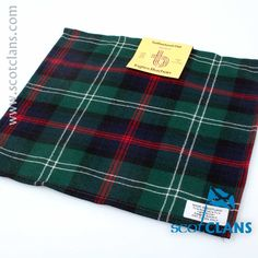 Sutherland Modern Tartan Pocket Square. Free Worldwide Shipping Available