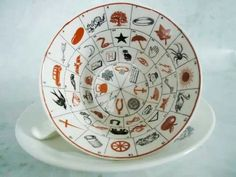 Rare vintage Fortune Telling Tea Cups and Saucers; made in the late - Romany Fortune Tea Cup and Saucer - Cris Figueired♥ Tea Cup Saucer, Tea Cups, Reading Tea Leaves, Tea Reading, Yi King, Halloween Cups, Fortune Telling, Teapots And Cups, My Cup Of Tea
