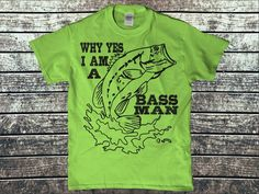 New Custom Design.  Not Sold in Stores. Tees, Sweatshirts and Stickers. Grab yours here: https://teespring.com/fun-fishing-gear-bass-man Tag 3 friends who would love this! #outdoors, #campinggear, #fishinggear, #ClimbingGear