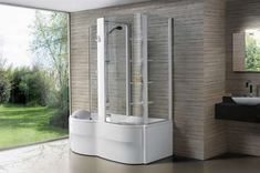 Vasche doccia combinate - La vasca doccia Flo Box di BluBleu