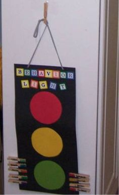 Stop Light Behavior Chart. Ticket from police (teacher) if they end at red Preschool Behavior, Student Behavior, Classroom Behavior, Classroom Rules, New Classroom, Kids Behavior, Kindergarten Classroom, Classroom Organisation, Classroom Management