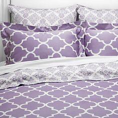 purple dorm bedding