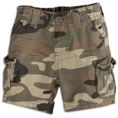 77kids 77 Camo Cargo Short ($20) ❤ liked on Polyvore featuring shorts, baby, baby stuff, baby boy, bottoms, camoflauge cargo shorts, stretch shorts, camo print shorts, stretch waist shorts and american eagle outfitters