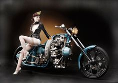 Radial Engine Motorcycle Built by Jesse James   Motorcycle Blog of Leatherup.com