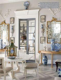 "This is tempting me to paint my interior doors ""Intellectual Gray."" Via Splendid Sass: FURLOW GATEWOOD ~ DESIGN IN AMERICUS, GEORGIA"