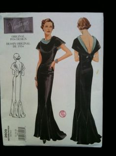 Vintage Vogue Original 1934 Design  Pattern by EmbroideryDallas, $48.00