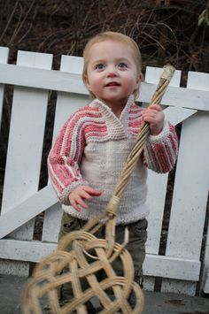 Childhood remake sweater - free knitting pattern - size 1yr, other sizes for sale Pickles