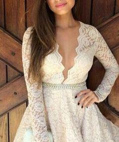 white lace mini dress