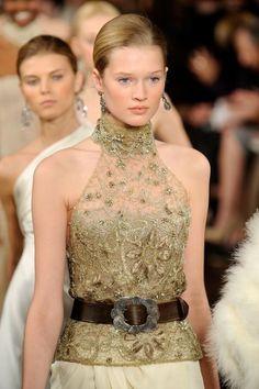 Gold lace dress Ralph Lauren / złota koronkowa sukienka
