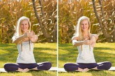 Getting ready for peacock pose! Wrist-strengthening exercises.