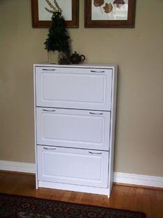 4D Concepts 4D Concepts Deluxe Triple Shoe Cabinet - White, Wood