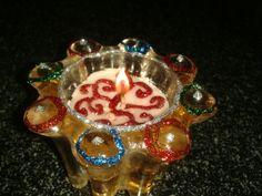 decorative candle (Diwali decorations)