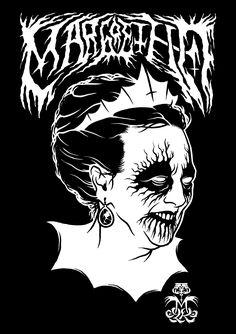 'Margrethe II of Denmark' Black Metal edition  www.totcph.com