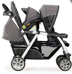 Chico Cortina Double Stroller - Cubes $300 BRU