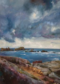 a sea painting by Olivier Filleul - 'Corbiere, Jersey'